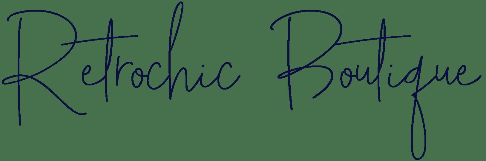 Texte Retrochic Boutique calligraphie