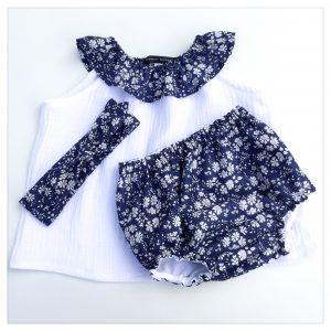 op-en-gaze-de-coton-blanche-et-liberty-capel-navy-enfant-bébé-retrochic-boutique