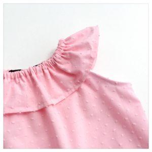 Top-en-plumetis-de-coton-rose-bonbon-enfant-bébé-retrochic-boutique