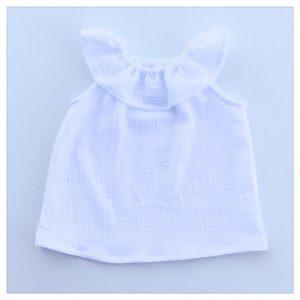 Top-en-gaze-de coton-blanche-enfant-bébé