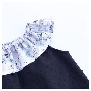 Top-en-plumetis-de-coton-noir-et-liberty-mitsi-gris-perle-enfant-bébé-retrochic-boutique
