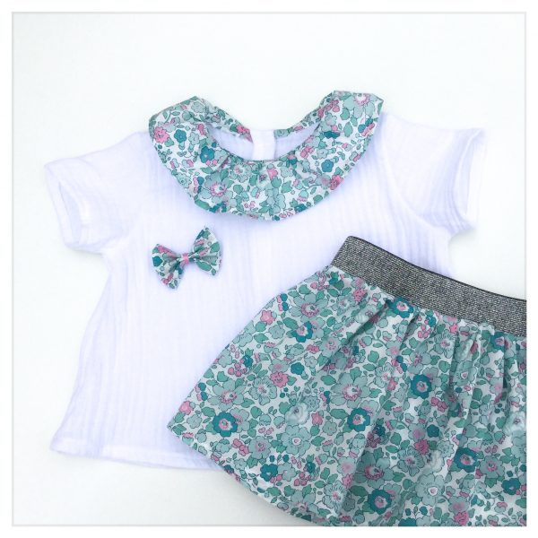 Jupe-en-liberty-of-london-betsy-mint-and-pink-à-ceinture-apparente-silver-enfant-bébé-retrochic-boutique