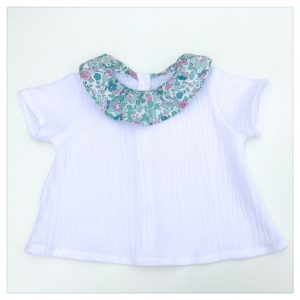 Blouse-en-gaze-de-coton-blanche-et-liberty-betsy-mint-and-pink-enfant-bébé-retrochic-boutique