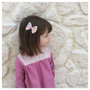 Blouse-en-plumetis-de-coton-rose-rétro-et-liberty-wiltshirebud-aurore-enfant-bébé-retrochic-boutique