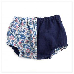 bloomer-réversible-gaze-de-coton-bleu-foncé-et-liberty-betsy-asagao