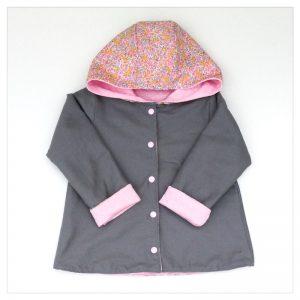 veste pour bébé et enfant sweat rose/gris/wiltshire bud aurore