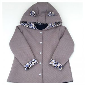veste pour bébé et enfant taupe/marine/andréa navy