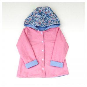 veste pour bébé et enfant sweat bleu ciel/coton rose/betsy asagao