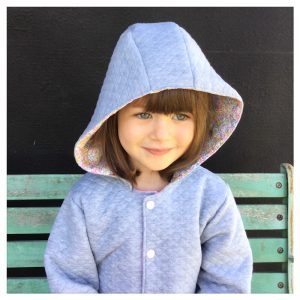 veste pour bébé et enfant gris chiné/rose/wiltshire bud aurore