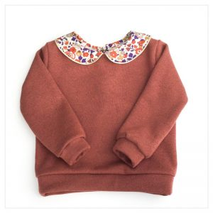 sweat pour bébé et enfant en sweat pailleté terracotta liberty of london betsy automn