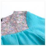 Blouse-en-plumetis-de-coton-turquoise-et-liberty-michelle-rose-enfant-bébé-retrochic-boutique