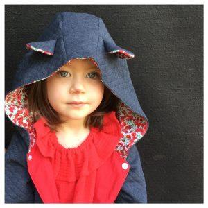 veste pour bébé et enfant antracite/rouge/wiltshire winter