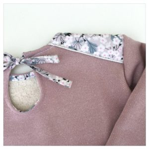 sweat pour bébé et enfant rose pailleté liberty of london mitsi gris
