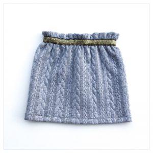 Jupe-torsadée-grise-ceinture-or-enfant-bébé-retrochic-boutique