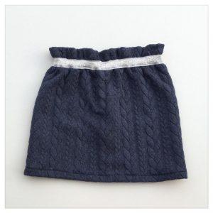Jupe-torsadée-denim-ceinture-argent-enfant-bébé-retrochic-boutique