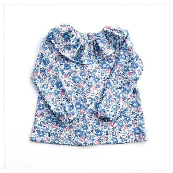 Blouse-en-liberty-betsy-asagao-enfant-bébé-retrochic-boutique-