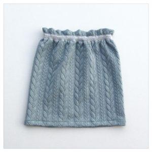 Jupe-torsadée-céladon-ceinture-argent-enfant-bébé-retrochic-boutique