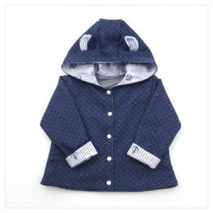 veste pour bébé et enfant sweat jean/coton gris/coton marin