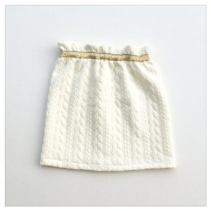 Jupe-torsadée-blanc-cassé-ceinture-gold-enfant-bébé-retrochic-boutique