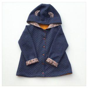 veste pour bébé et enfant sweat jean/coton moutarde/wiltshire bud noisette