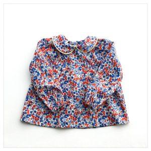 Blouse-en-liberty-wiltshire-marianne-enfant-bébé-retrochic-boutique-