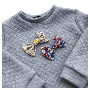 sweat pour bébé et enfant gris chiné à noeud papillon amovible