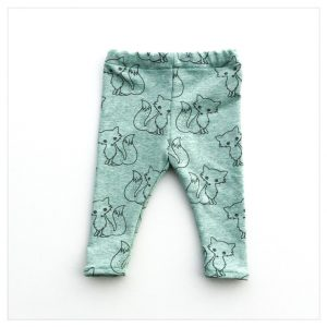 pantalon en sweat léger vert d'eau renards