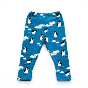 pantalon en jersey de coton motif pingouins