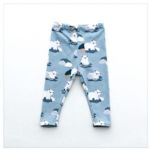 pantalon en jersey de coton motif ours polaires