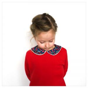 sweat pour bébé et enfant en sweat douillet rouge et liberty of london wiltshire nausicaa