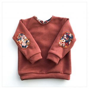 sweat pour bébé et enfant en sweat pailleté terracotta liberty of london thorpe automn