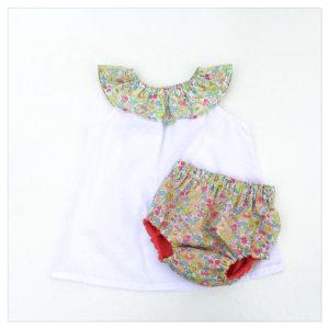 Top-en-plumetis-de-coton-blanc-et-betsy-lime-enfant-bébé-retrochic-boutique