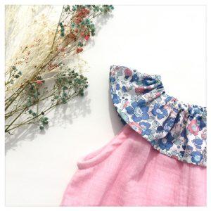 Top-en-gaze-de-coton-rose-candy-et-betsy-asagao-enfant-bébé-retrochic-boutique