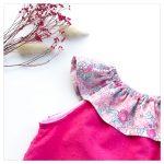 Top-en-plumetis-de-coton-fushia-et-betsy-amelie-enfant-bébé-retrochic-boutique