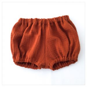 bloomer-shorty-gaze-coton-terracotta-bébé-enfant