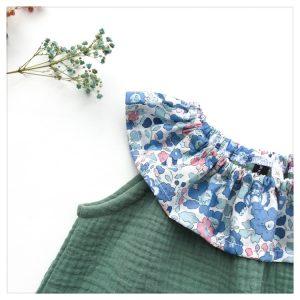 Top-en-gaze-de-coton-tilleul-et-betsy-asagao-enfant-bébé-retrochic-boutique