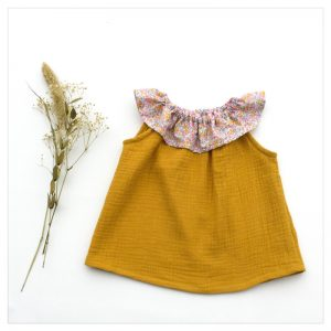 Top-en-gaze-de-coton-moutarde-et-wiltshire-bud-aurore-enfant-bébé-retrochic-boutique