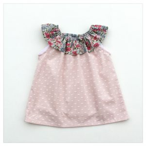 Top-en-plumetis-de-coton-rose-et-poppy-and-daisy-rose-enfant-bébé-retrochic-boutique