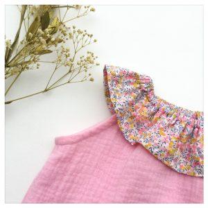 Top-en-gaze-de-coton-rose-candy-et-wiltshire-bud-aurore-enfant-bébé-retrochic-boutique