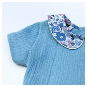 robe pour bébé et enfant en gaze bleu ciel liberty of london betsy asagao