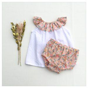 Top-en-plumetis-de-coton-blanc-et-betsy-barbapapa-enfant-bébé-retrochic-boutique