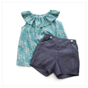 Retrochic-boutique-mode-pour-enfants-short-chambray-de-coton-anthracite-liberty-of-london-capel-sea-green-made-in-france-