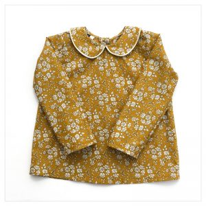 Blouse-en-liberty-capel-moutarde-enfant-bébé-retrochic-boutique