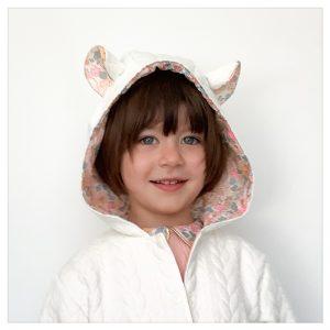 veste pour bébé et enfant crème/blush/betsy barbapapa