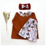 Blouse en coton pour enfant plumetis terracotta et coton Bocage