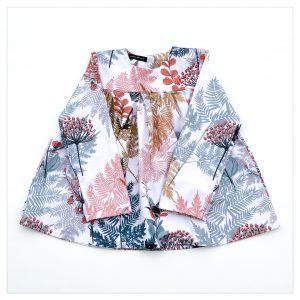 Blouse en coton pour enfant motif feuillage