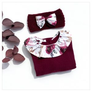 Blouse en coton pour enfant gaze griotte et coton Fairy Bunny
