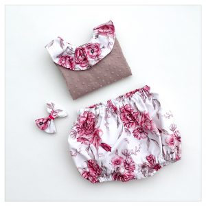 bloomer en coton motif eglantine