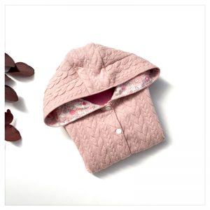 veste pour bébé et enfant rose doux/rose rétroh/betsy butterfly rose