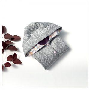 veste pour bébé et enfant grise/parme/betsy terracotta